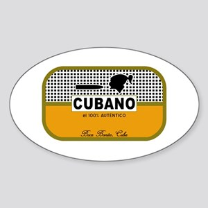 CUBANO el 100% Autentico Alternate Oval Sticker